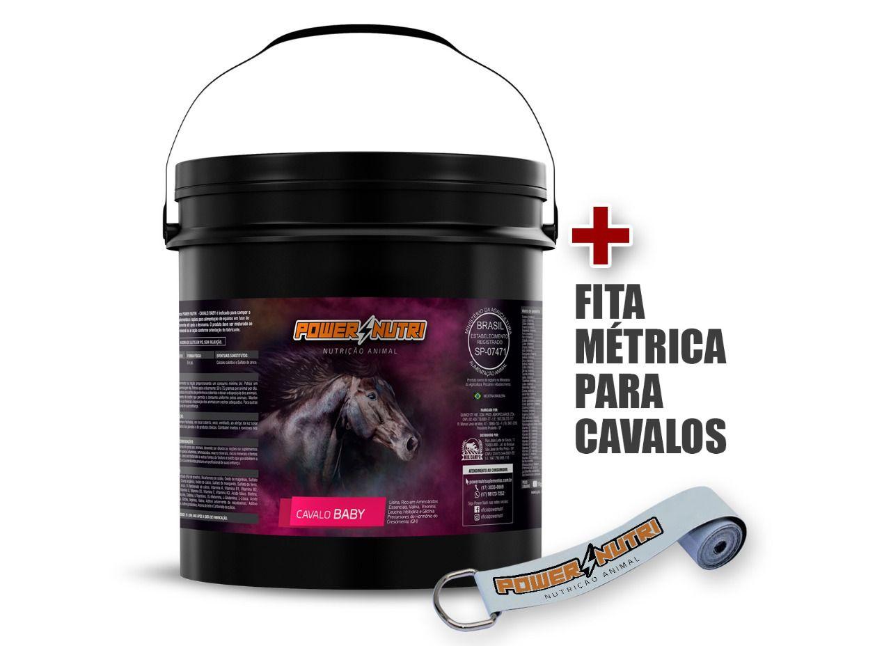 Kit Power Nutri Cavalo Baby 5kg + 1 Fita métrica