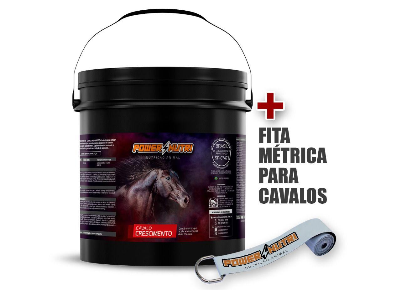 Kit Power Nutri Cavalo Crescimento 5kg + 1 Fita Métrica