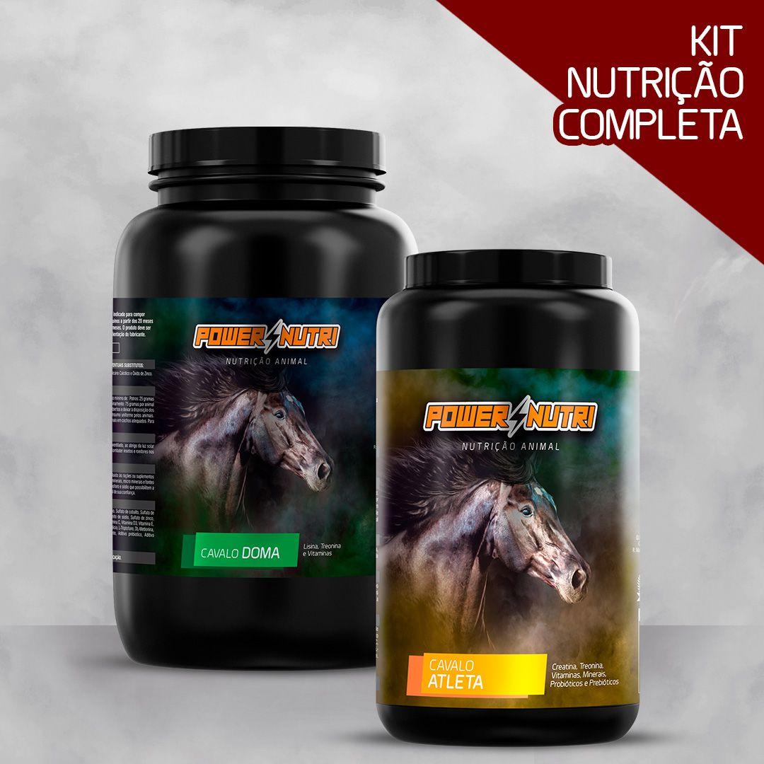Kit Power Nutri Cavalo Doma 3kg + Power Nutri Cavalo Atleta 1kg