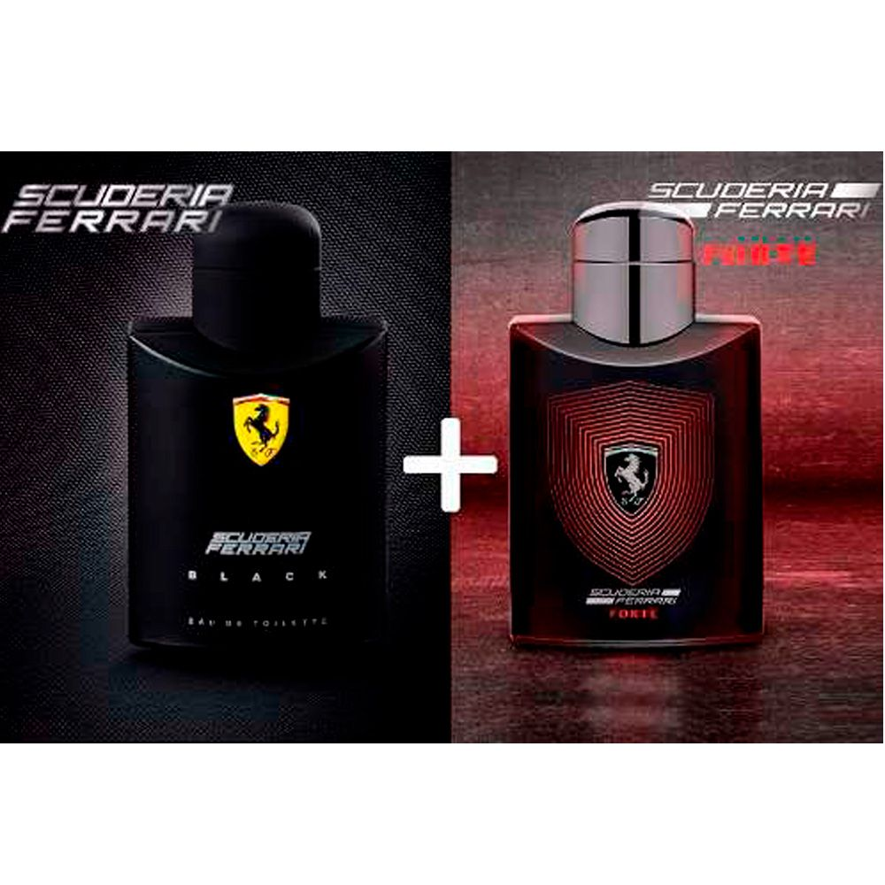 Conjunto Masculino Perfumes Scuderia Ferrari Forte 125ml EDP e Scuderia  Ferrari Black 125ml EDT ccd01997418