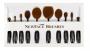 BLACK OVAL BRUSH SET COM 10 ESCOVAS | NEWFACE BRUSHES®