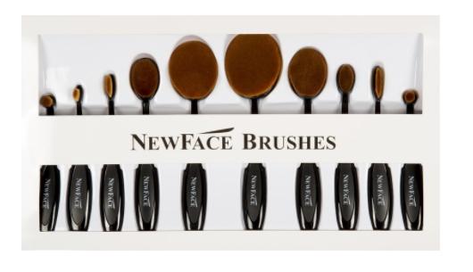 Black Oval Brush Set | NewFace Brushes®