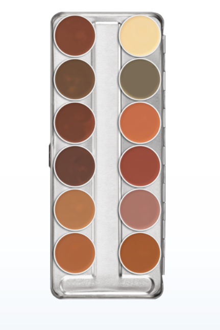 Dermacolor Camouflage Creme Palette 12 Cores | Kryolan
