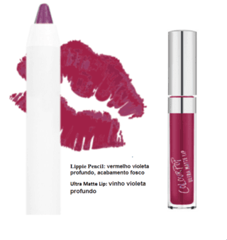 ColourPop | Lip Ultra Matte + Pencil / Cor: Vinho-Violeta Profundo