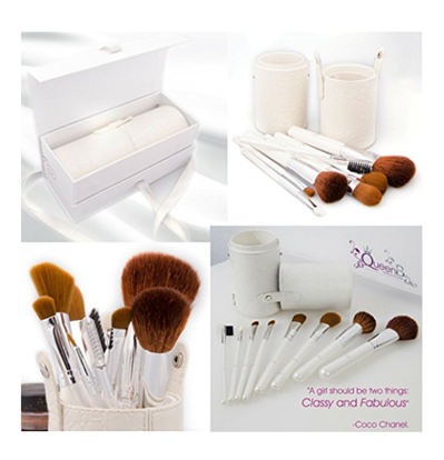 Make Up Brush com 10 Pincéis de Luxo