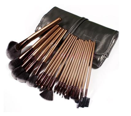 Make Up Brush Gold com 21 Pincéis Profissional