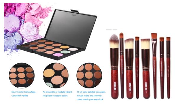Gaga| Palette de corretivo mais um kit de Kabuki