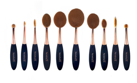 Rose Gold Oval Brushes |  NewFace Brushes®