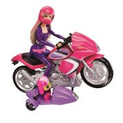 BONECA BARBIE MOTOCICLETA E PET DHF21