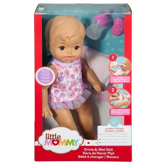 BONECA LITTLE MOMMY BEBE FAZ XIXI FBC88