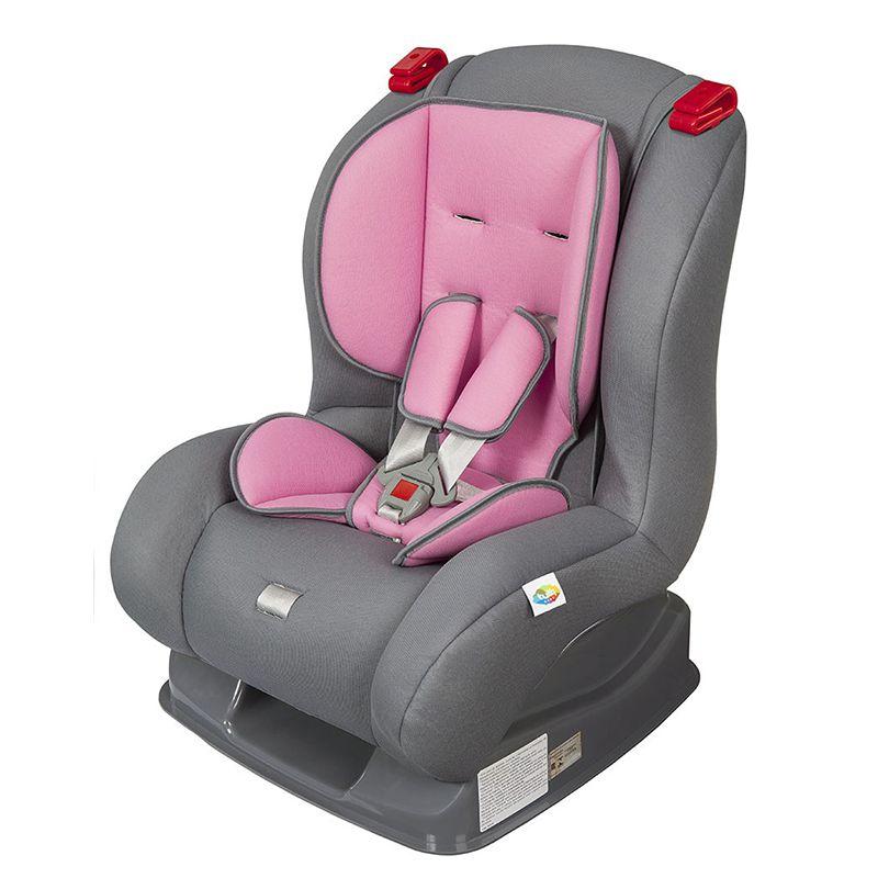 CADEIRA P/ CARRO ATLANTIS CINZA/ROSA TUTTI BABY