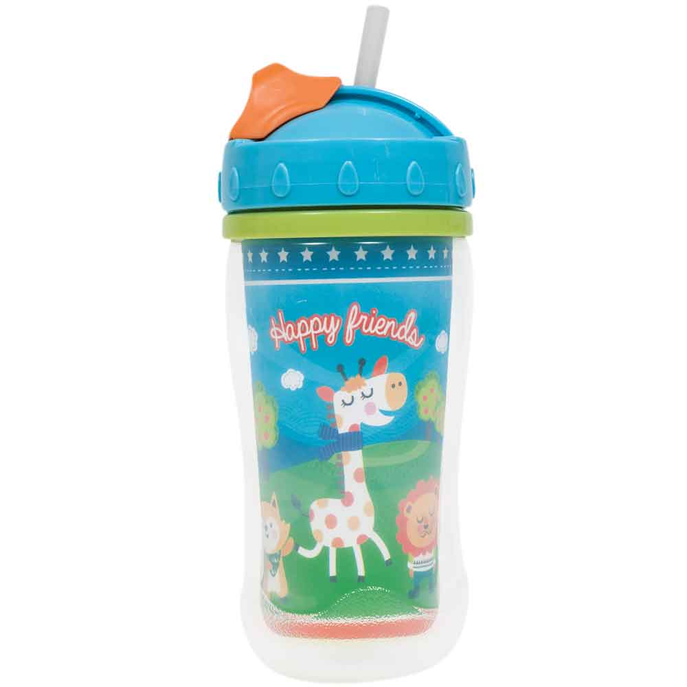 COPO 320ML COM TAMPA HAPPY FRIENDS 6856