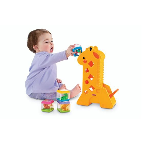 FISHER-PRICE GIRAFA C/ BLOCOS DE MONTAR B4253