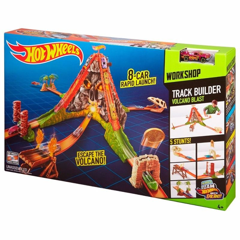 HOT WHEELS PISTA TRACK BUILDER FUGA DO VULCÃO CKW72