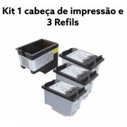 Cartucho Compativel Novo 664XL Colorida  Kit c/3 unidades