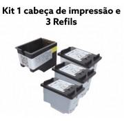 Cartucho Compativel Novo 664XL preto  Kit c/3 unidades