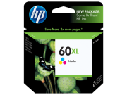Cartucho HP 60XL Colorido Original (CC644WB) 13ML
