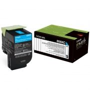 Toner Lexmark 80C8XC0 - Ciano