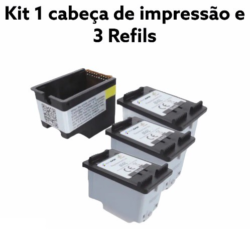 Cartucho Compativel Novo 664XL Colorida  Kit c/3 unidades