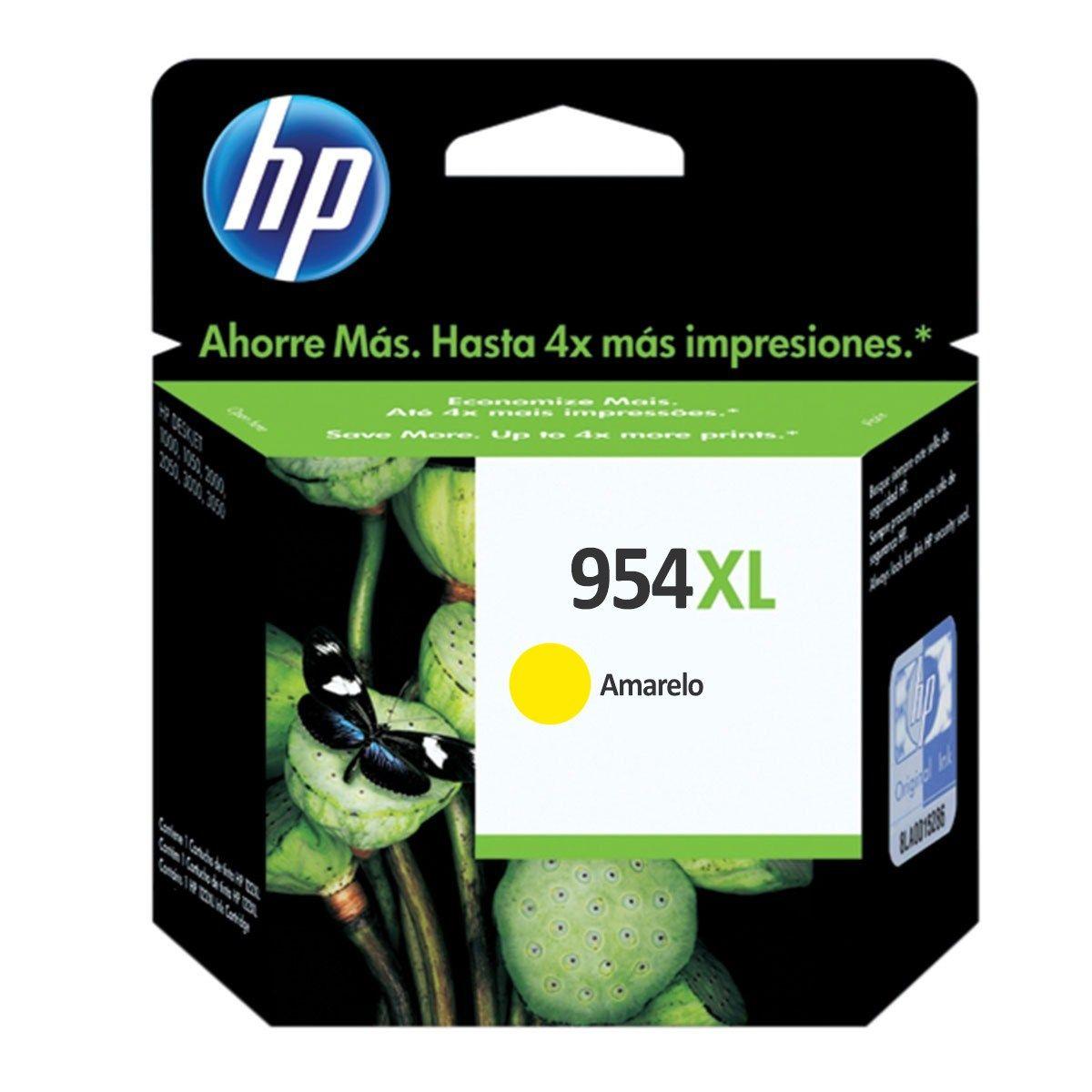 Cartucho HP 954XL Amarelo Original (L0S68AB) 20ml