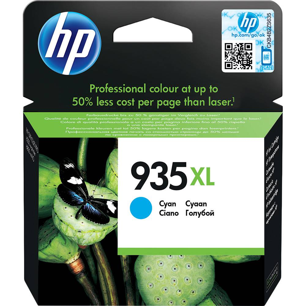 Cartucho HP 935XL Cian Original 9,5ml  (C2P24AB) Para HP Officejet 6830, 6230