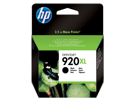 Cartucho HP 920XL Preto 29ml CD975A)
