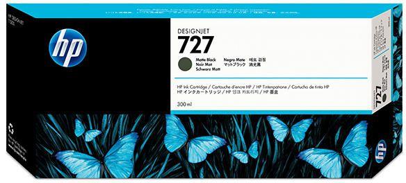 Cartucho de Plotter HP 727 Preto Fosco C1Q12A (300ML)