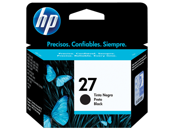 Cartucho HP 27 Preto 10ml C8727AB