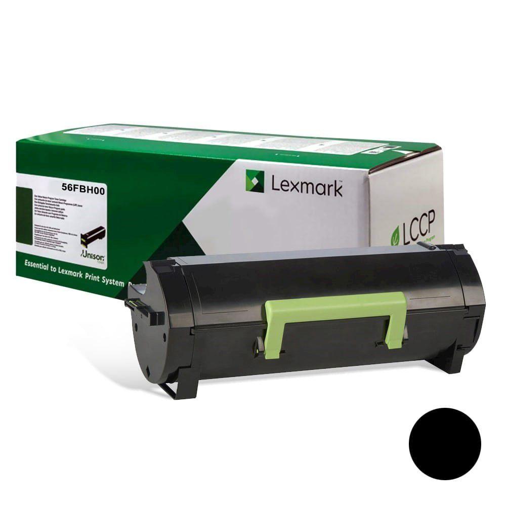 Cartucho de Toner Lexmark 56FBH00 Preto (15.000 Pág)