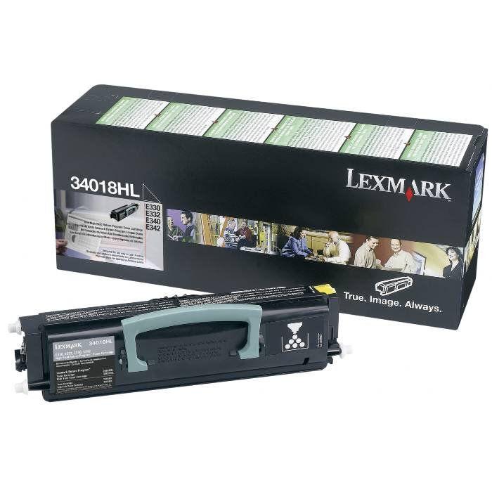 Cartucho de Toner Lexmark Preto 34018HL