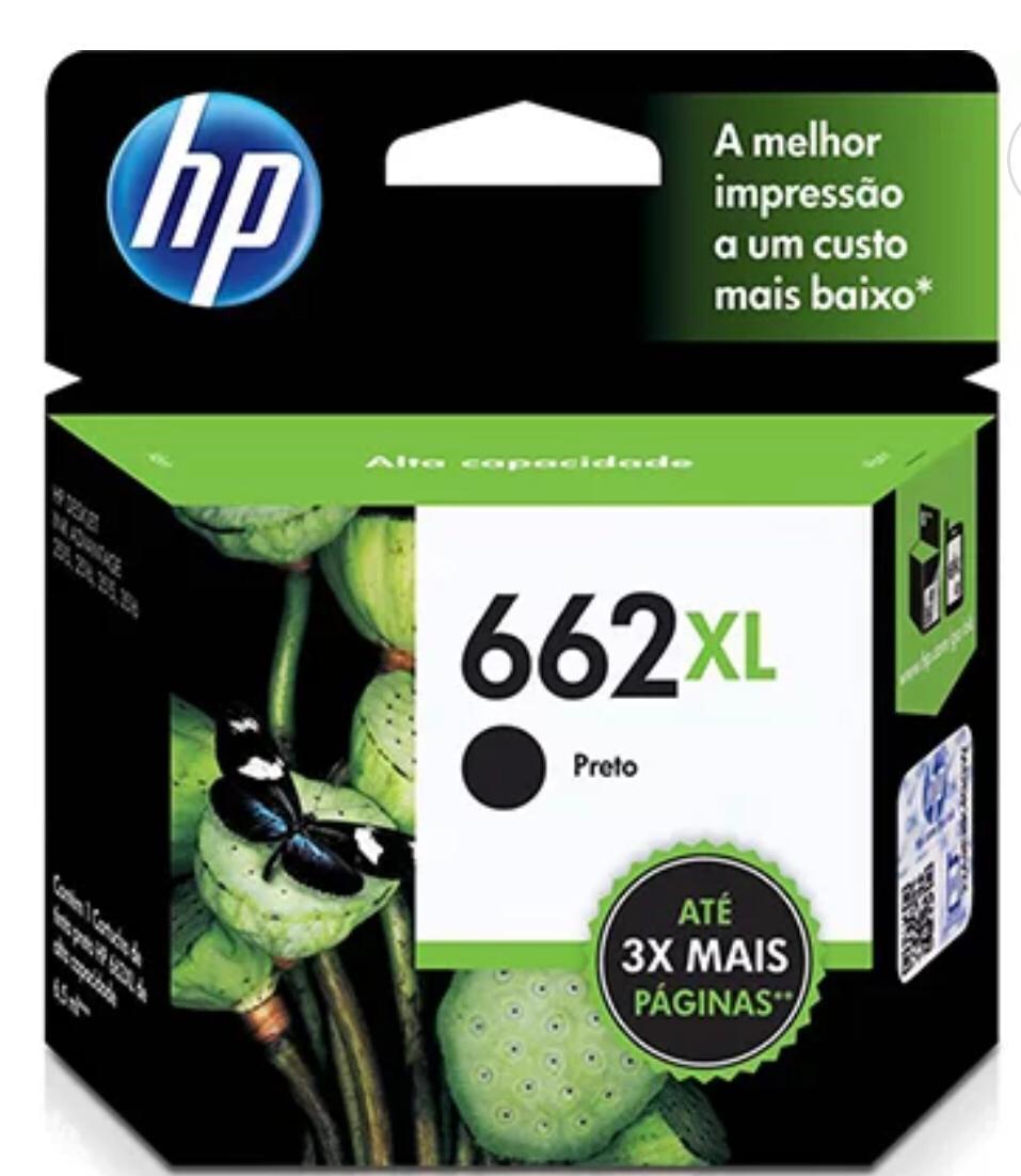 Cartucho HP 662XL Preto Original CZ105AB  6,5ml