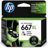 Cartucho HP 667XL colorido 3YM80AL HP 8,5ml