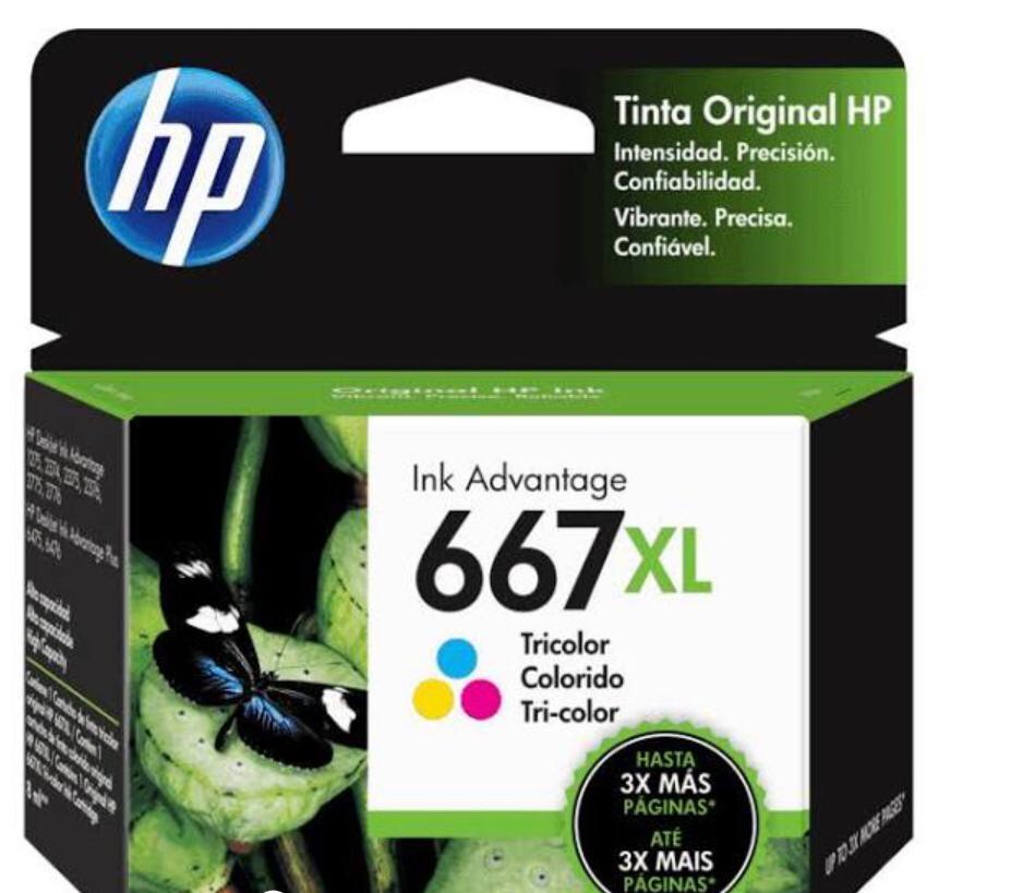 Cartucho HP 667XL colorido 3YM80AL HP 8 ml