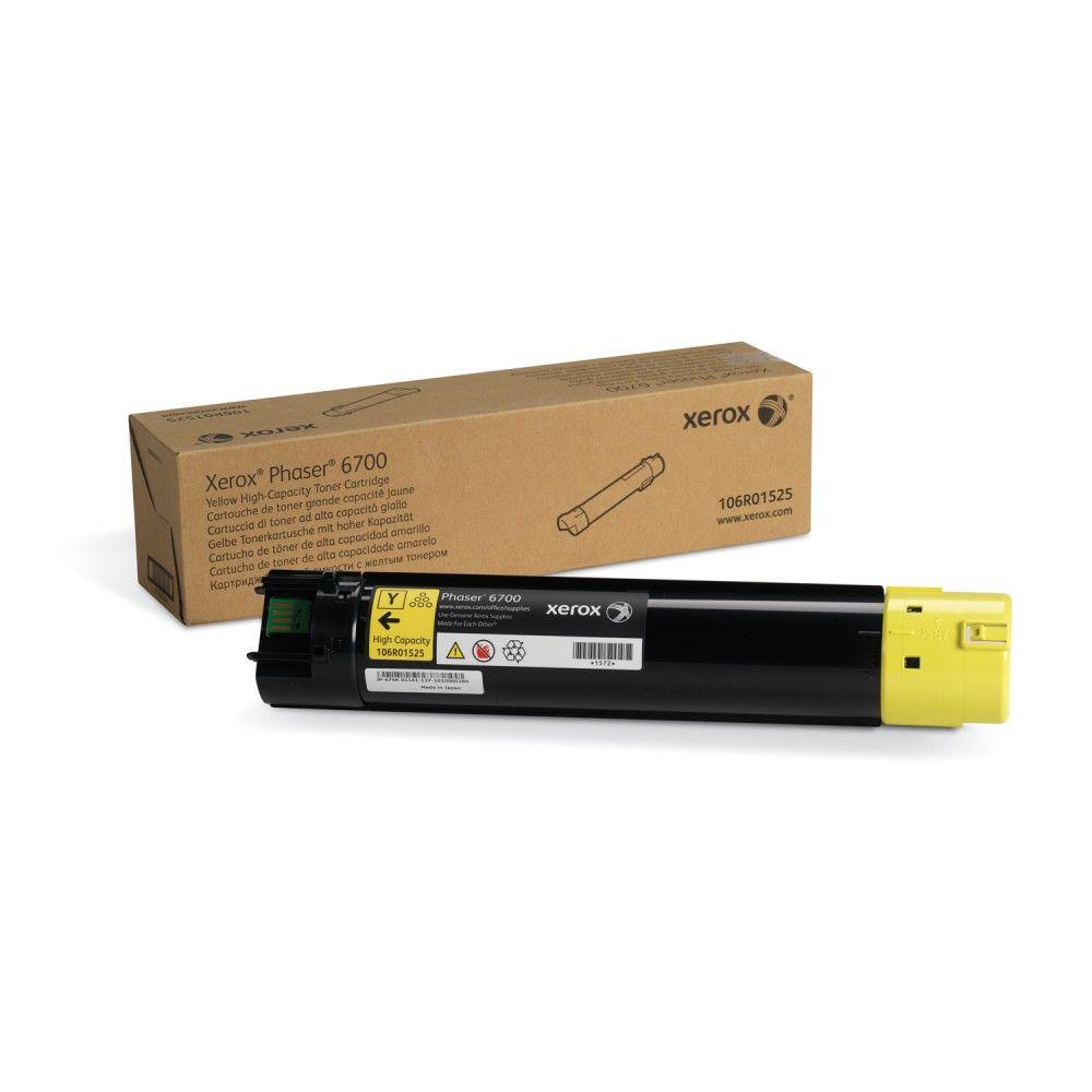 Cartucho Toner Xerox Phaser 6700 - Amarelo - 106R01525 - 12K