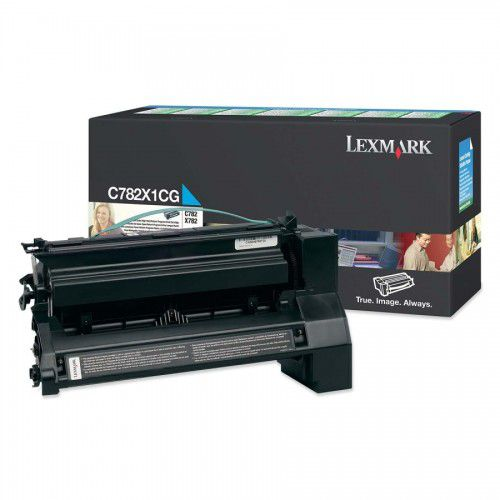 Cartucho Toner Lexmark C782 Ciano - 15K - C782X1CG