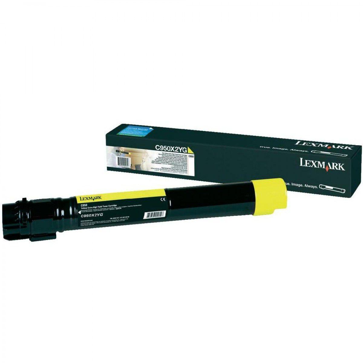 Cartucho Toner Lexmark C950 - 22K - Amarelo - C950X2YG