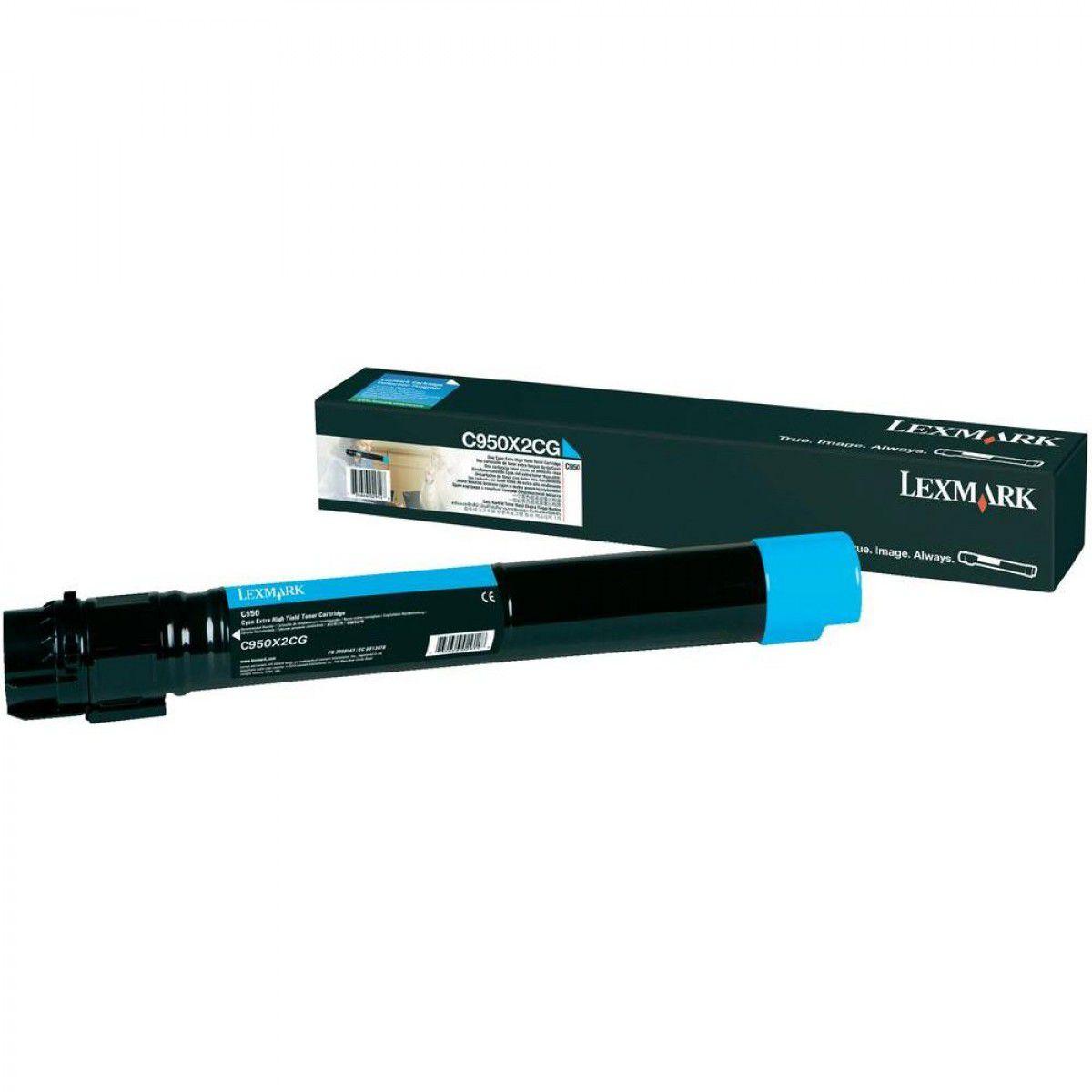 Cartucho Toner Lexmark C950 - 22K - Ciano - C950X2CG