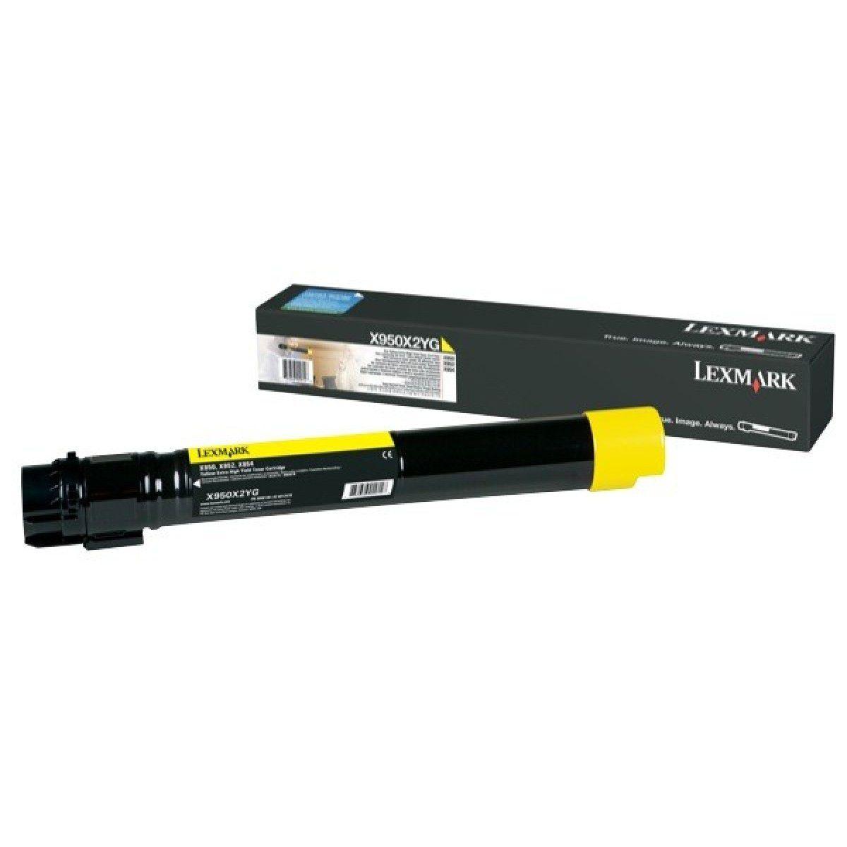 Toner Lexmark Yellow - X950X2YG - 22k