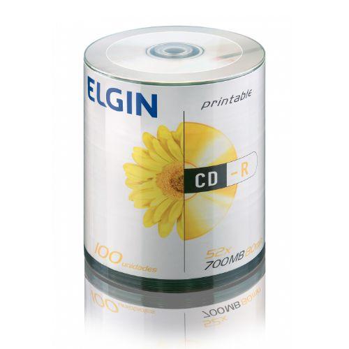 CD-R 700mb 52X Elgin c/ 100 unidades