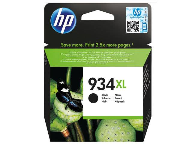 Cartucho HP 934XL preto Original (C2P23AB) 25,5ml