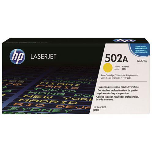 Toner LaserJet amarelo HP 502A Original (Q6472A)