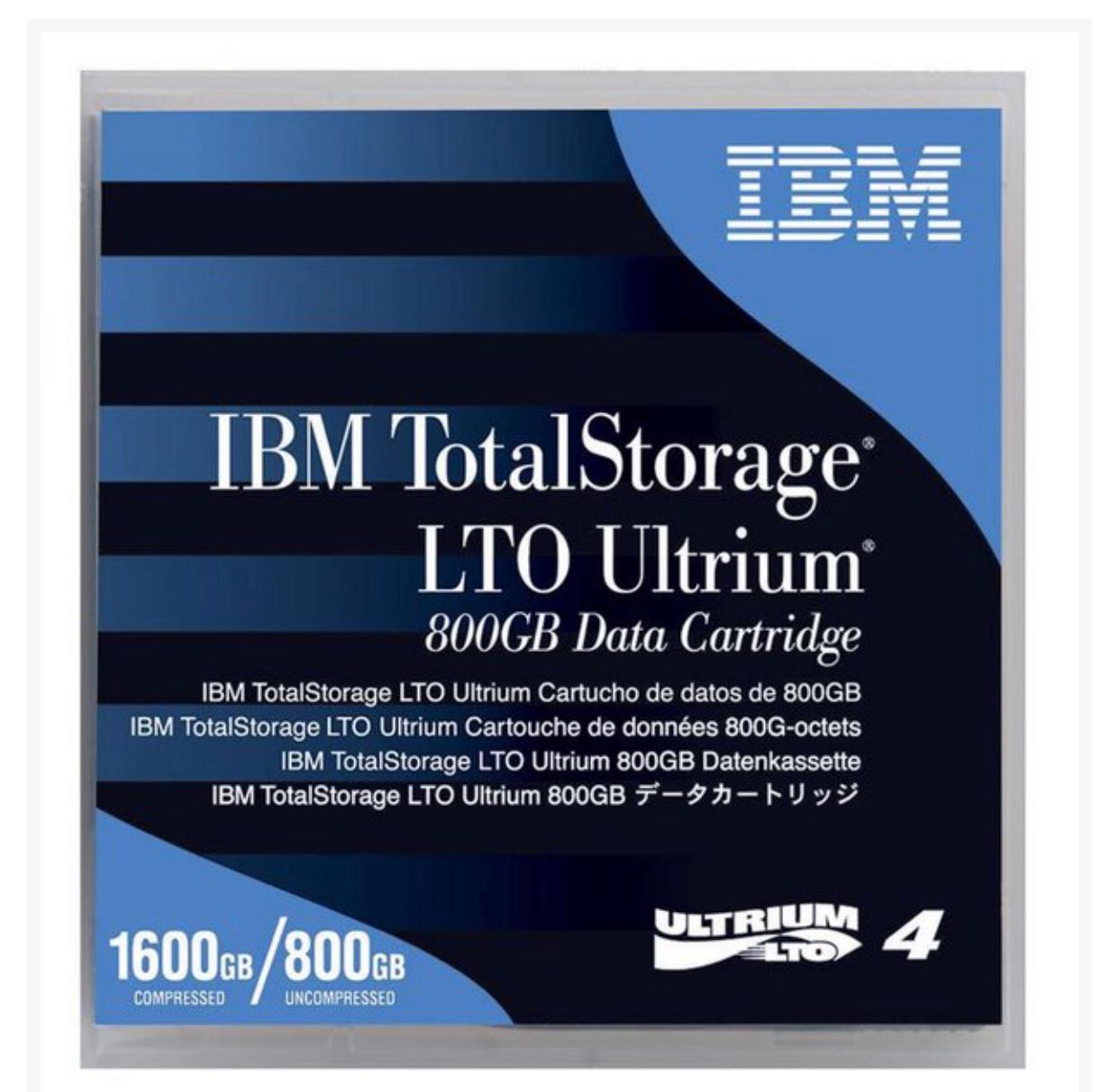 Fita LTO-4 Ultrium 4 Data Cartridge 800GB/1.6TB IBM