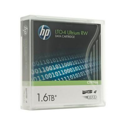 Fita LTO-4 HP Ultrium RW Data Cartridge C7974A 1.6TB