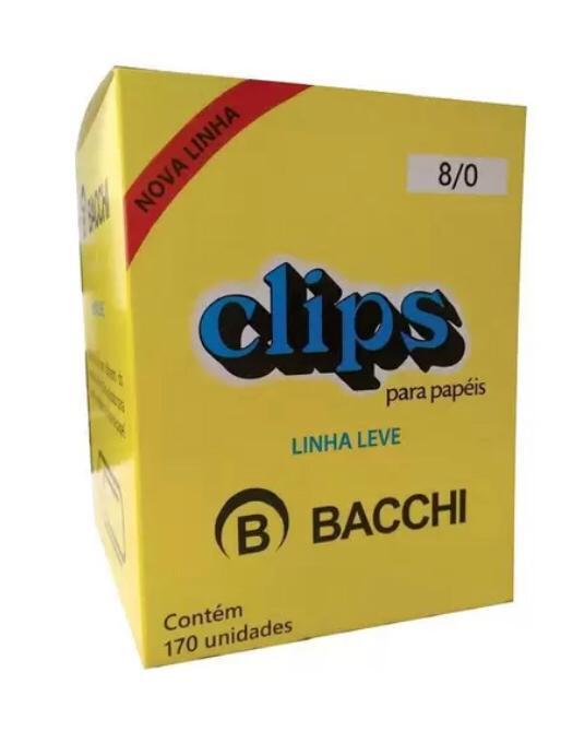 Kit c/10 cxs Clips Galv.Bacchi 8/0 c/170 unid.