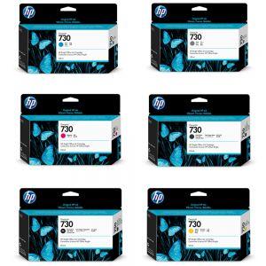 Kit HP 730 com 06 cores de 300ml