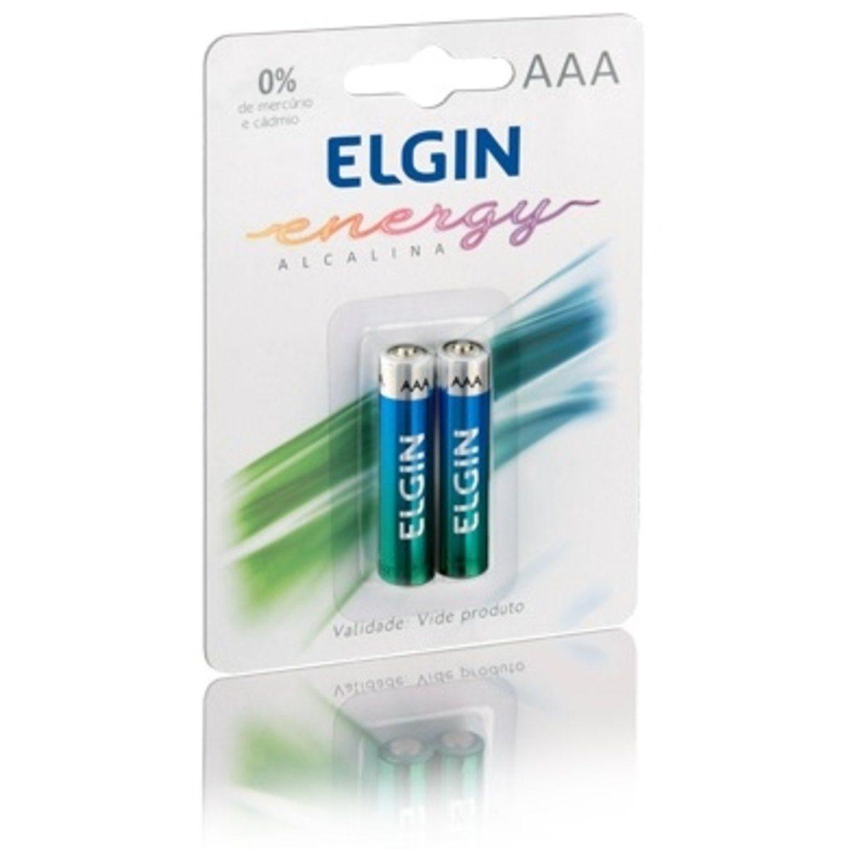 Pilha Alc.AAA Elgin c/ 2 unid - Kit  c/10 cartelas c/2 unids