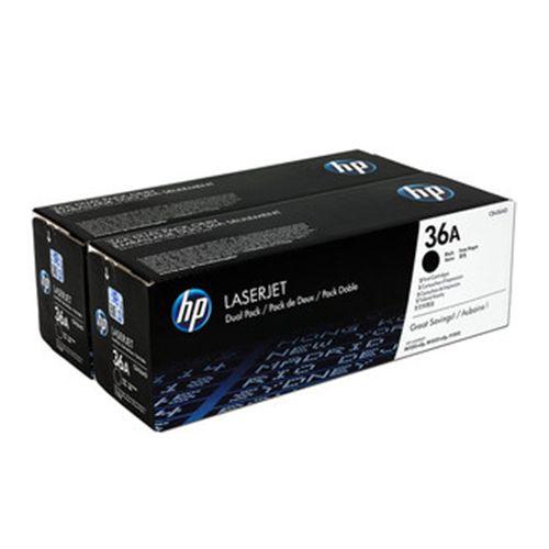 Toner HP 36A Preto Dual Pack Laserjet Original CB436AE