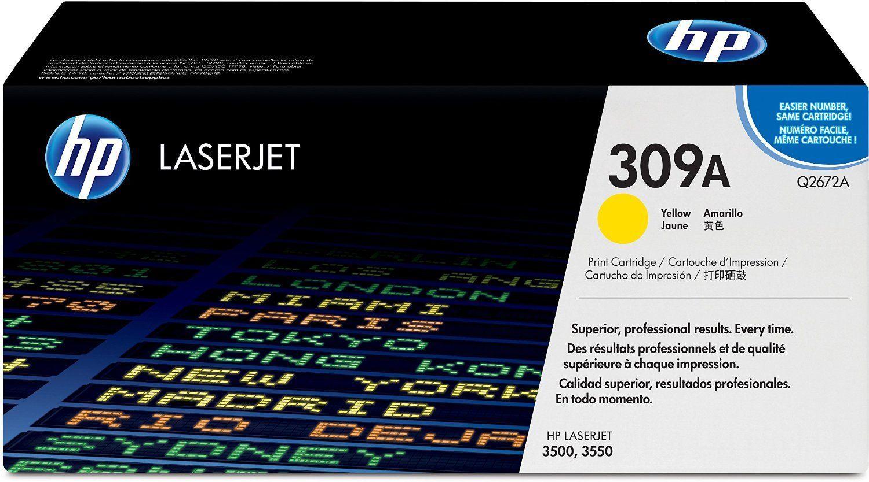 Toner HP LaserJet Original 309A Amarelo Q2672A
