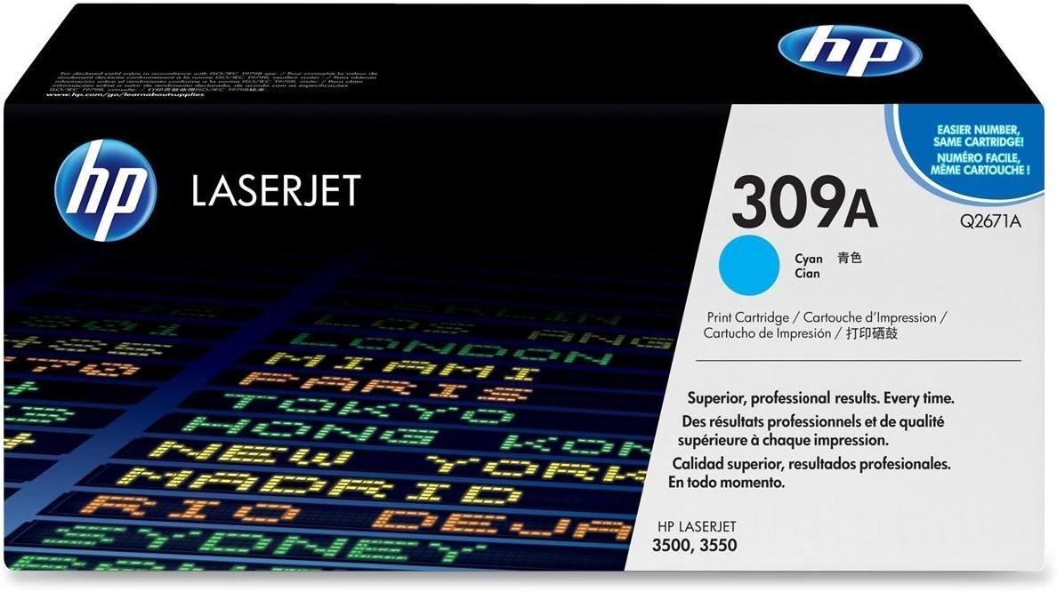 Toner HP LaserJet Original 309A Ciano Q2671A