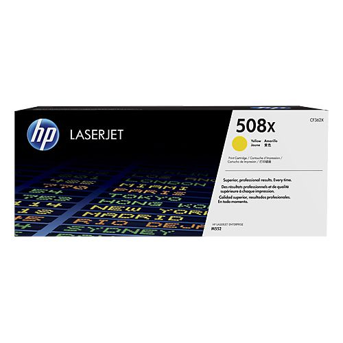 Toner LaserJet amarelo de alto rendimento HP 508X Original (CF362X)